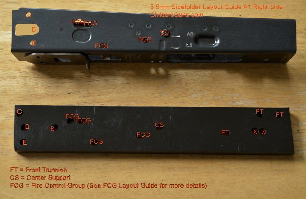 Receiver Layout Guide 4.5mm A1 Right