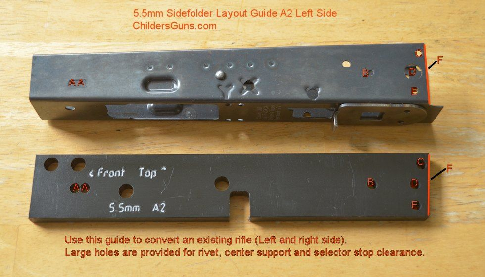 Receiver Layout Guide 4.5mm A2 Left