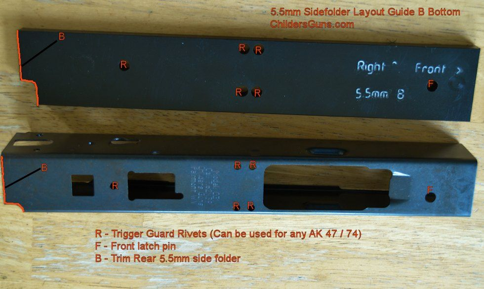 Receiver Layout Guide 4.5mm B Bottom 1a