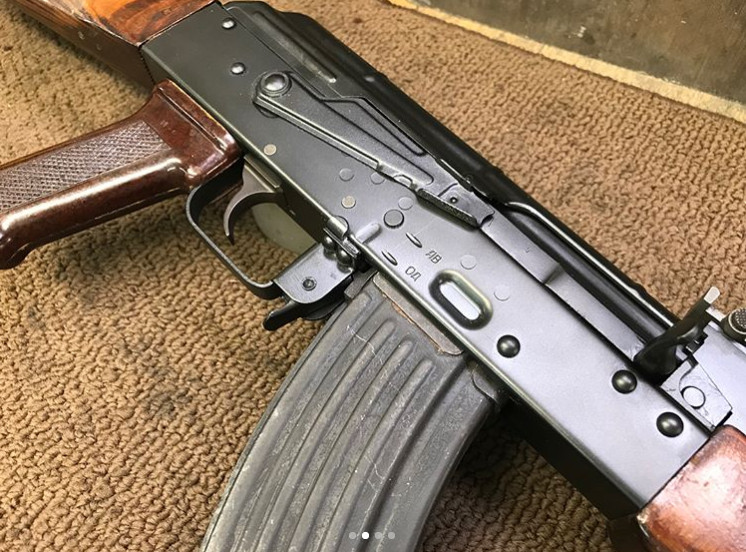1968 Tula AKM Kit built Childers Receiver.  Selector markings and Notches