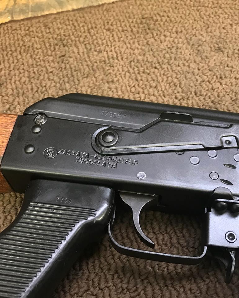 In Range Inc Yugo M70 Custom Engraving Z-ZASTAVA-KRAGUJEVAC-YUGOSLAVIA